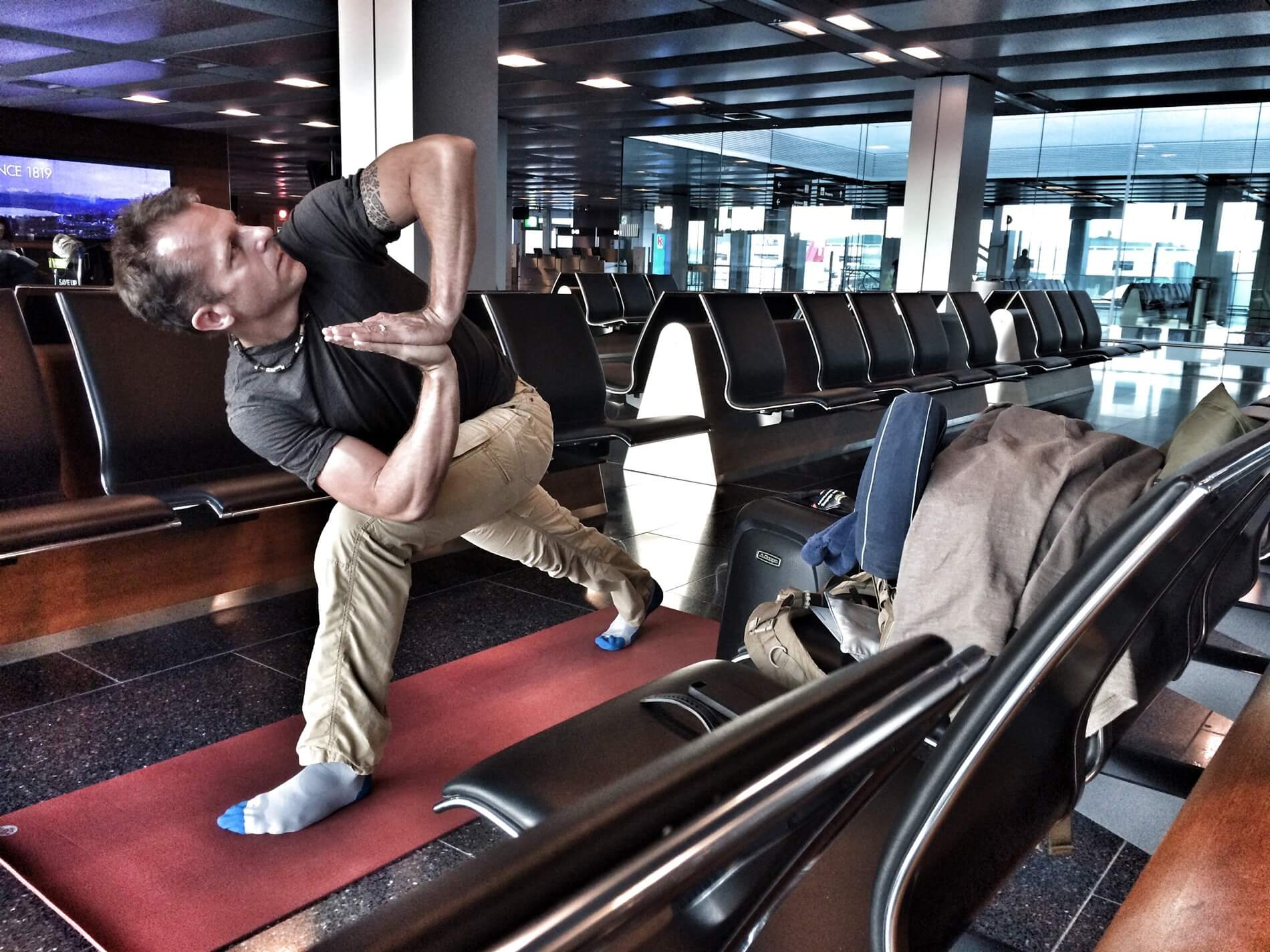 Airport Yoga: Mastering Travel Day Stress