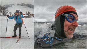Jeff Grant XC Ski Ice Swim